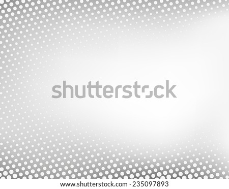 Abstract grey dotted background - stock vector