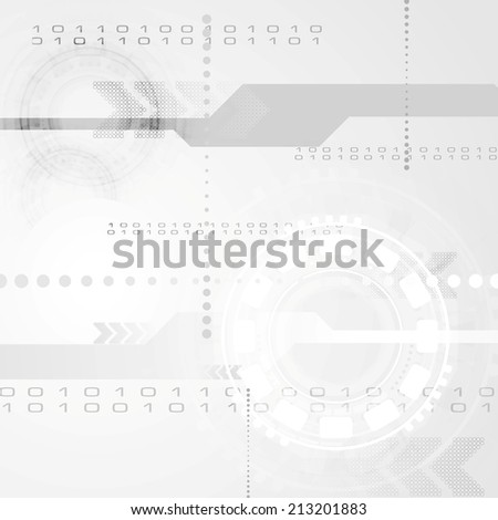 Abstract grey engineering tech background. Vector design - stock vector
