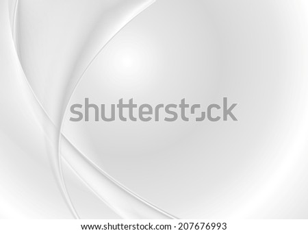Abstract grey pearl waves. Vector background - stock vector