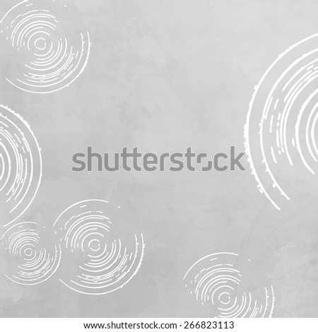 Abstract grey white background - circle pattern - stock vector