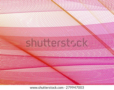 abstract grid lines, vector composition with motion effect - stock vector