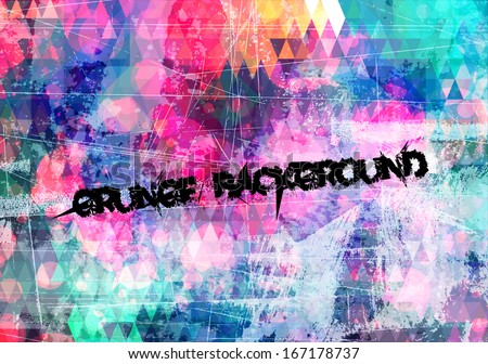 abstract grunge art colorful vector background - stock vector