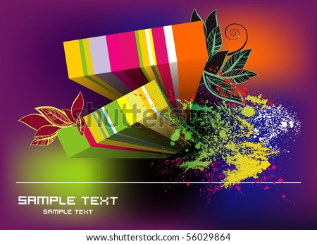 abstract grunge background eps10 - stock vector