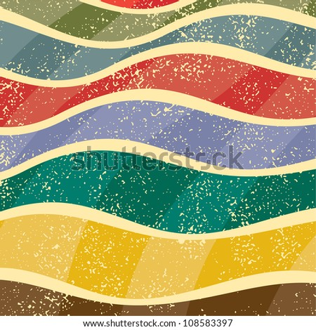 Abstract grunge background, vector illustration. Grunge effect can be cleaned easily. - stock vector