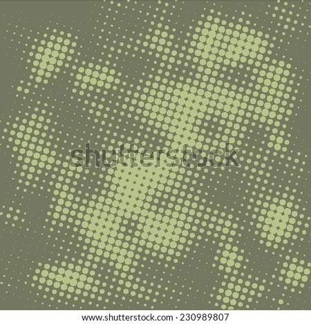 Abstract grunge background with splats and halftone effect - stock vector