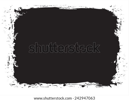 Abstract grunge frame.Vector illustration. - stock vector