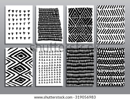 Abstract grunge hand drawing textures. Vector illustration. - stock vector