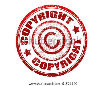 Abstract grunge office rubber stamp with the word copyright written inside the stamp - check for more - stock vector