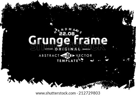 Abstract grunge photo frame. Background vector texture - stock vector