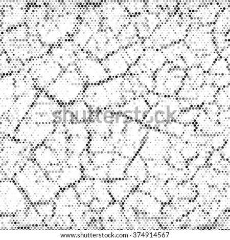 Abstract grunge polka dot background pattern. Spotted line vector illustration - stock vector