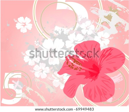 abstract grunge tropical background - stock vector