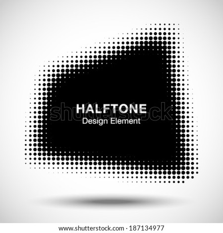Abstract Halftone Design Element, vector illustration  - stock vector