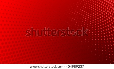 Abstract halftone dots background in red colors - stock vector