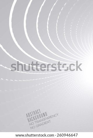 Abstract halftone perspective background (A4 size vertical page) - stock vector