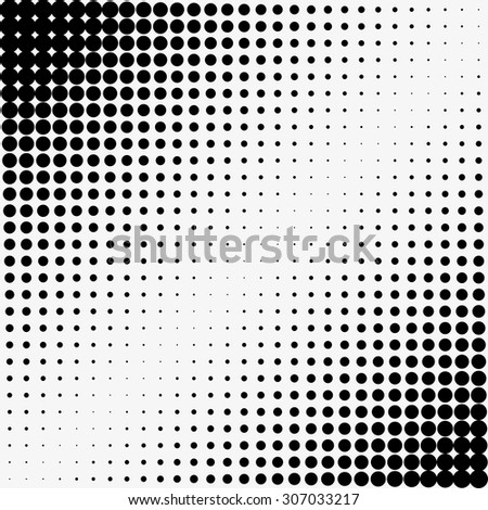 Abstract halftone vector dotted background - stock vector