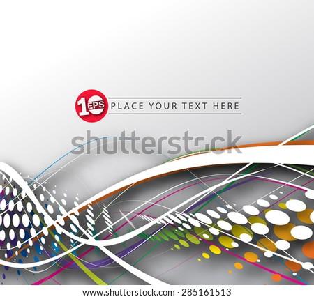 Abstract Halftone Wave Design, eps10 vector  - stock vector