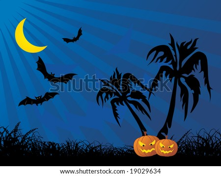 abstract halloween series design - stock vector
