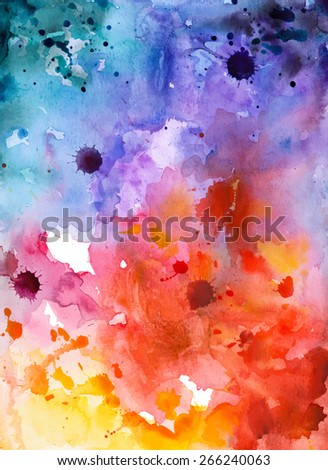 Abstract hand drawn watercolor background,vector illustration. Watercolor composition for scrapbook elements. Watercolor shapes on white background - stock vector