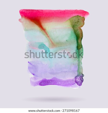 Abstract hand paint watercolor background ,vector illustration, stain watercolors colors on wet paper. Watercolor composition for scrapbook elements or print. - stock vector