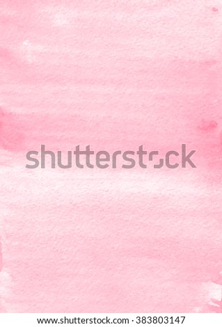 Abstract hand painting. Artistic colorful template. Watercolor texture effect. Grunge vector illustration. Soft and light pink colors. Design for card, cover, backdrop, banner, wallpaper, poster.  - stock vector