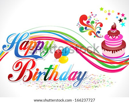 abstract happy birthday background vector illustration - stock vector