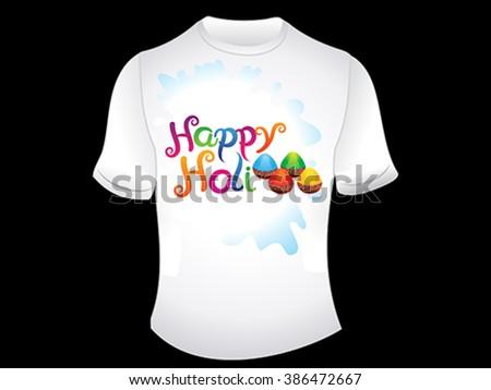 abstract happy holi tshirt vector illustration - stock vector