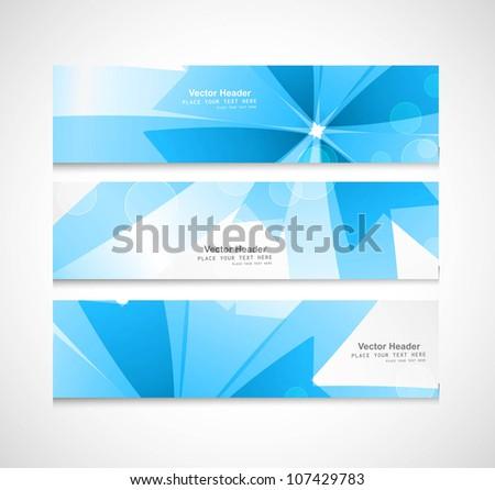 Abstract header blue vector illustration - stock vector