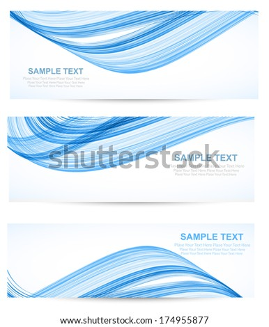Abstract header blue wave vector - stock vector