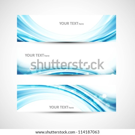 Abstract header blue wave whit vector background - stock vector