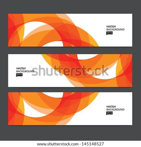 Abstract header set - stock vector
