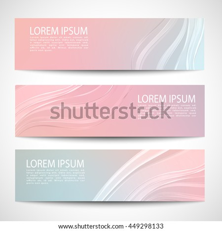 Abstract header white wave vector design.blue pink purple pastel background - stock vector