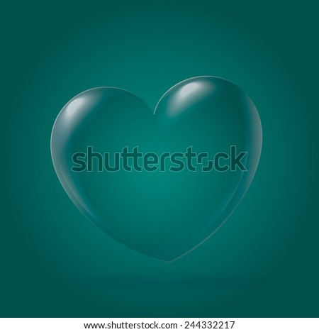Abstract Heart Icon, green - stock vector