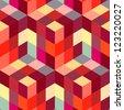 Abstract hexagon mosaic. - stock vector