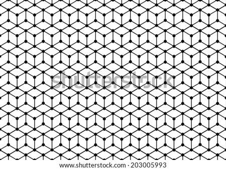Abstract Hexagonal Pattern. Vector - stock vector