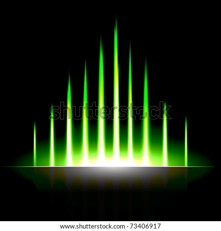 Abstract Hi Tech Background - stock vector