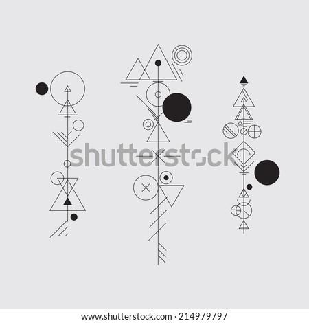 Abstract hipster arrows  - stock vector