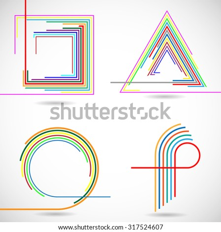 Abstract Hipster Geometrical Elements . Vector . - stock vector