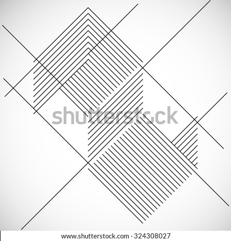 Abstract Hipster Lines Background . Vector Design . - stock vector