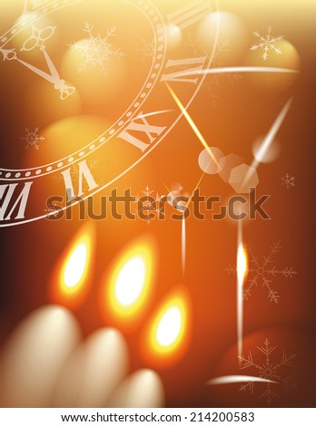 Abstract holiday background with candles and wine glasses  - stock vector