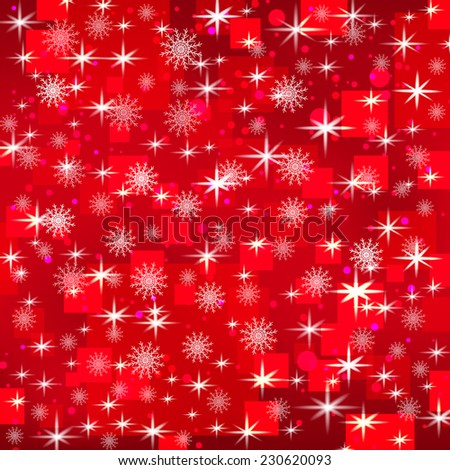 Abstract holiday Christmas background with snowflakes and shiny stars ...