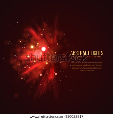 Abstract Holiday Light Rays Design. Vector Illustration. - stock vector