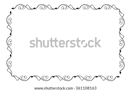 Abstract horizontal black and white frame - stock vector