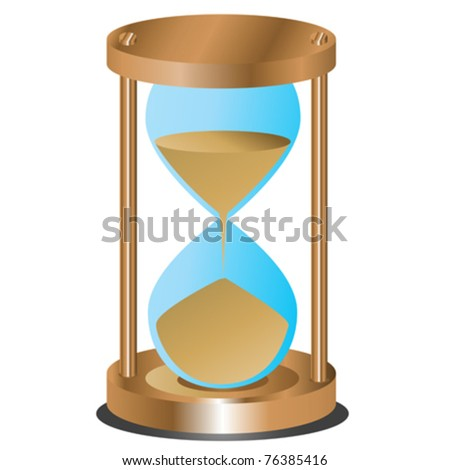 Abstract hourglass on white background - stock vector