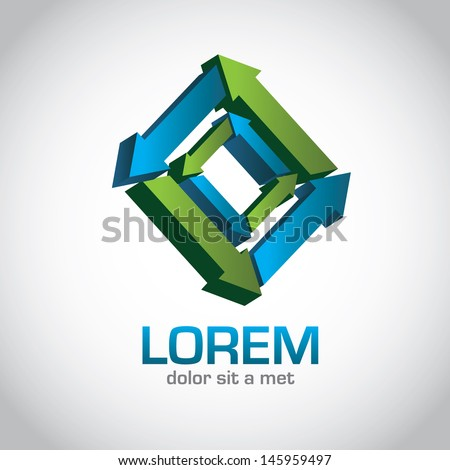 Abstract Icon Symbol. EPS 10 vector, grouped for easy editing. No open shapes or paths. - stock vector