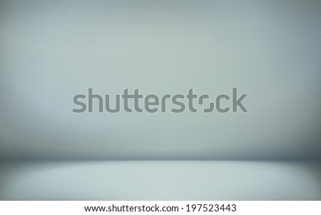 abstract illustration background texture of cyan wall, flat floor in empty room. - stock vector
