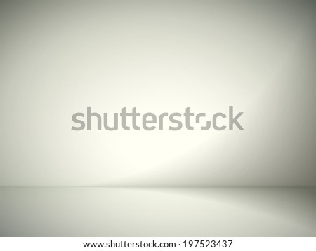 abstract illustration background texture of yellow and gray gradient wall, flat floor in empty room. - stock vector