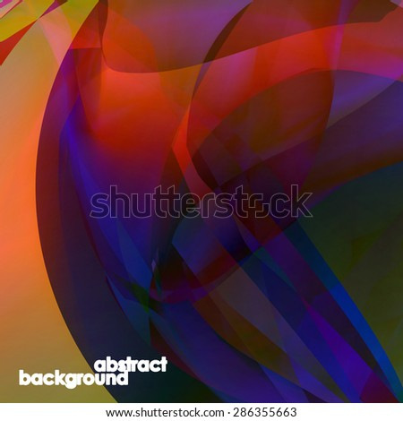 Abstract illustration colorful background - digital composition. - stock vector