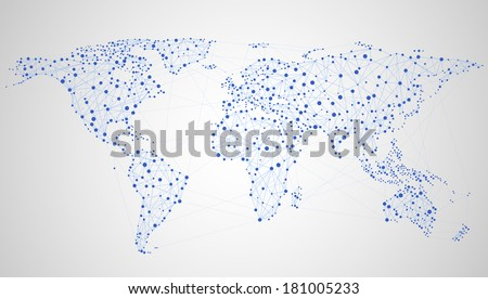 Abstract illustration of global network, EPS 8 - stock vector