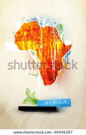 abstract illustration of the continent Africa - stock vector