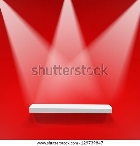 Abstract illustration of three spotlights - stock vector